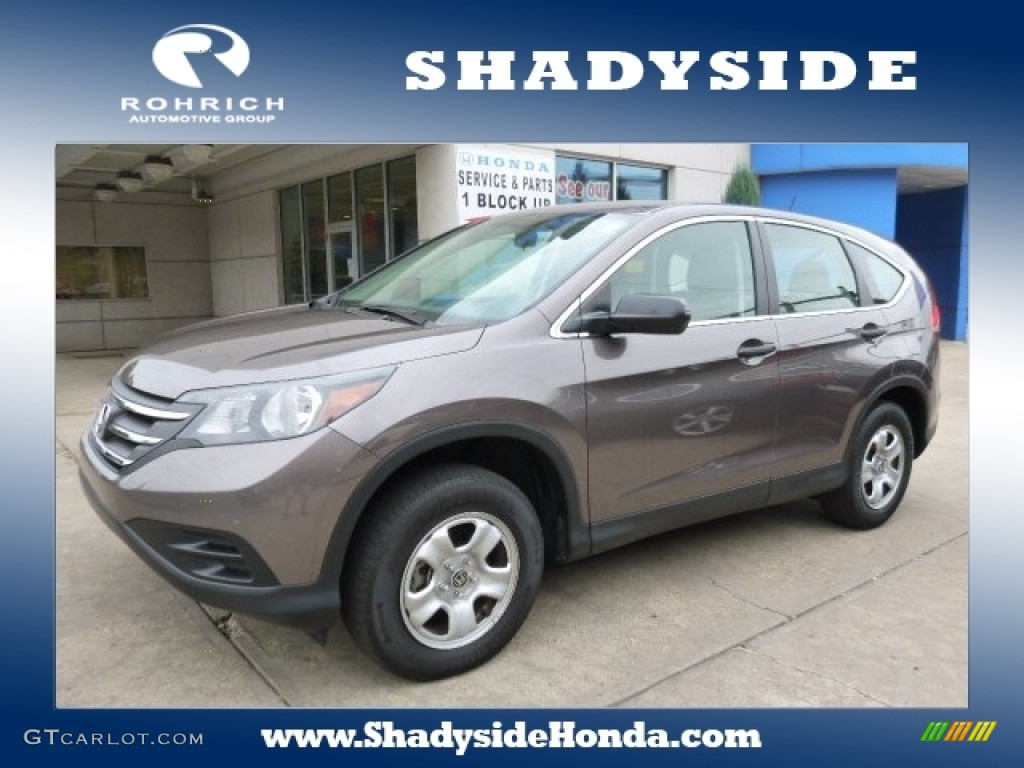 2014 CR-V LX AWD - Urban Titanium Metallic / Black photo #1
