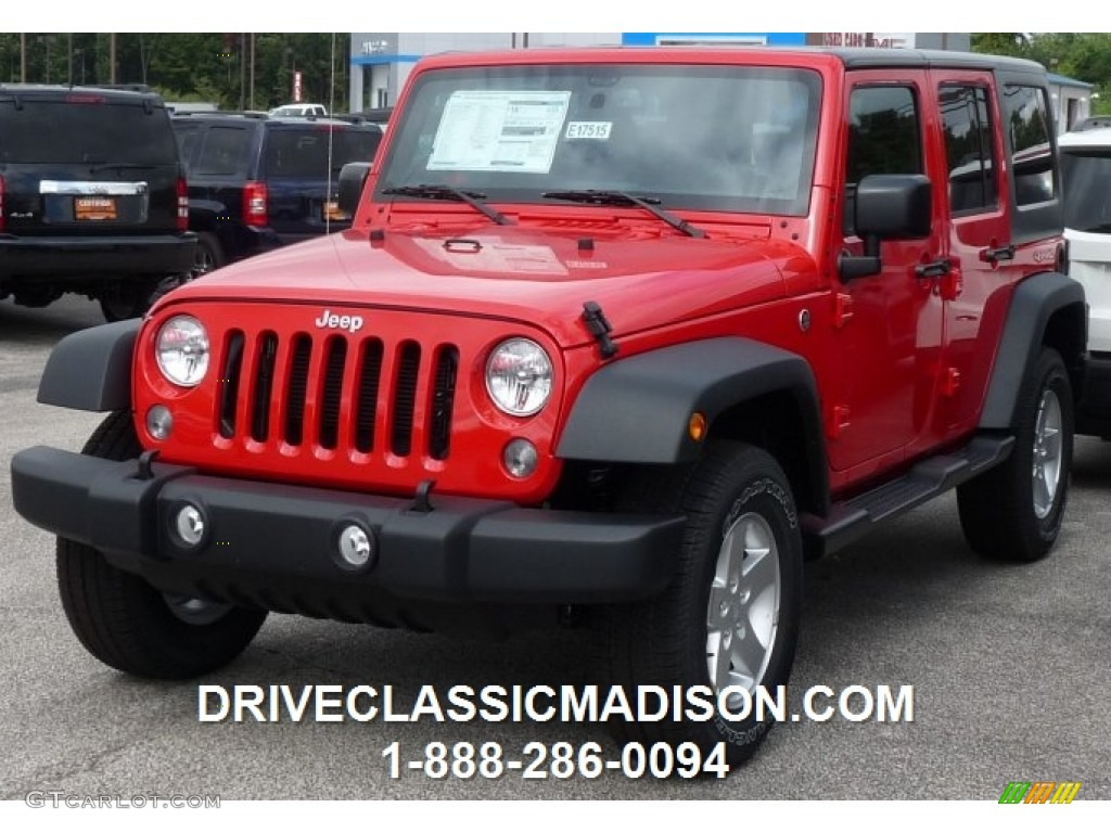 Fireer Red Jeep Wrangler Unlimited