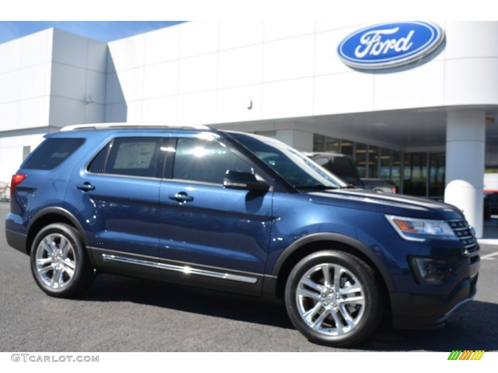 2016 Ford Explorer XLT - Blue Jeans Metallic Color / Medium Light ...