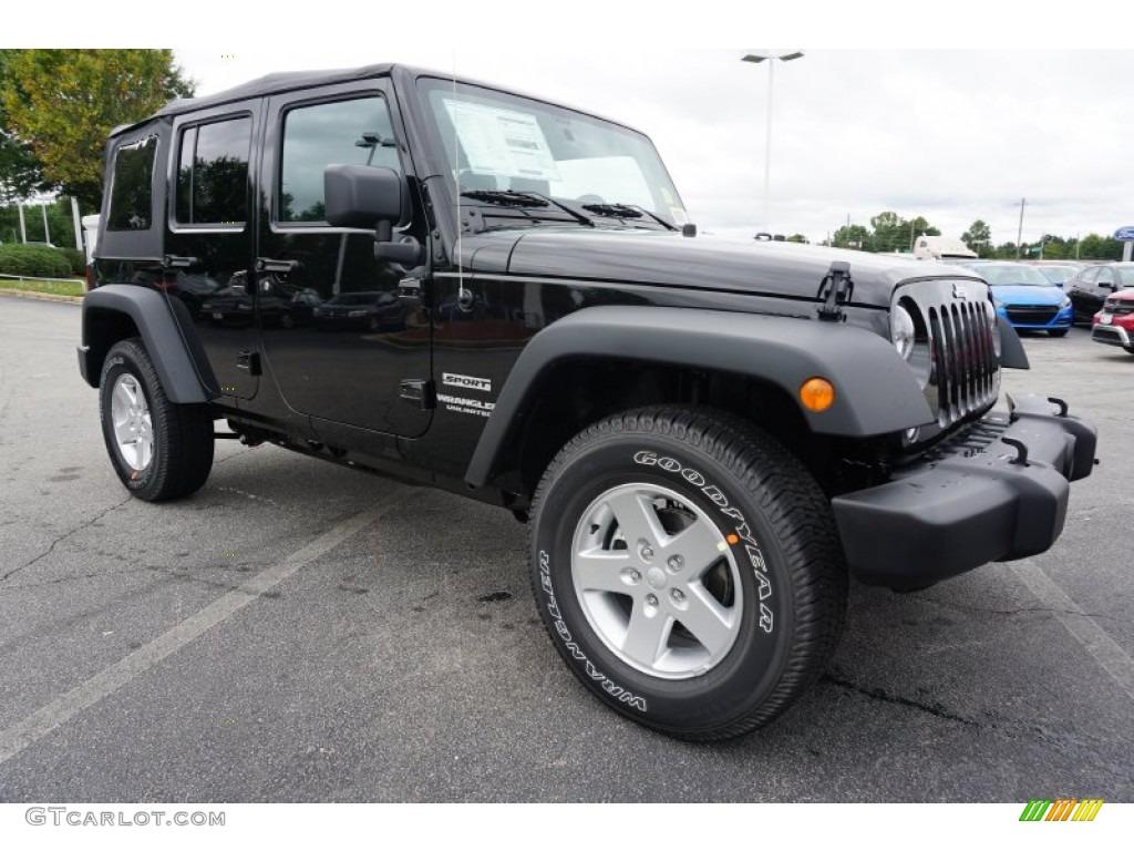 black 2016 jeep wrangler unlimited sport 4x4 exterior photo 107691888. Black Bedroom Furniture Sets. Home Design Ideas