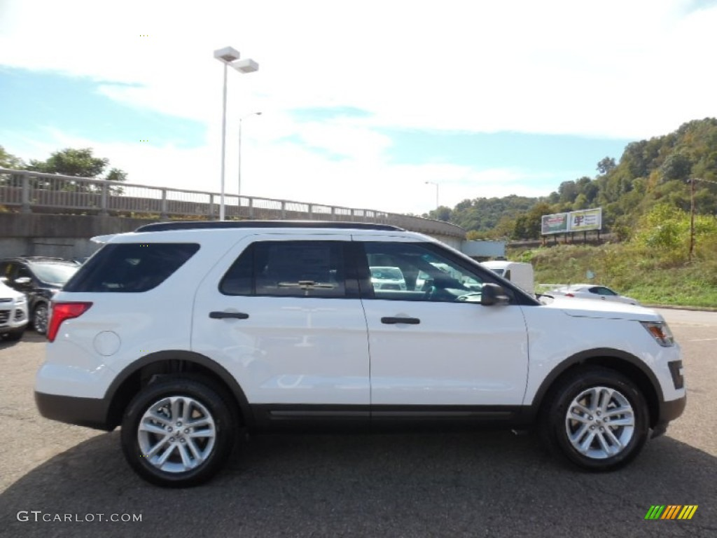 Oxford White Ford Explorer