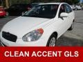 Nordic White 2010 Hyundai Accent GLS 4 Door