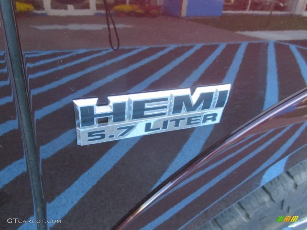 2012 Ram 1500 Laramie Crew Cab 4x4 - Deep Molten Red Pearl / Dark Slate Gray photo #14