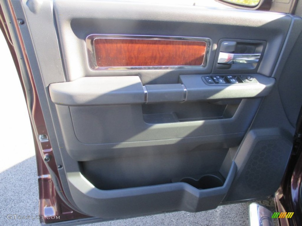 2012 Ram 1500 Laramie Crew Cab 4x4 - Deep Molten Red Pearl / Dark Slate Gray photo #22