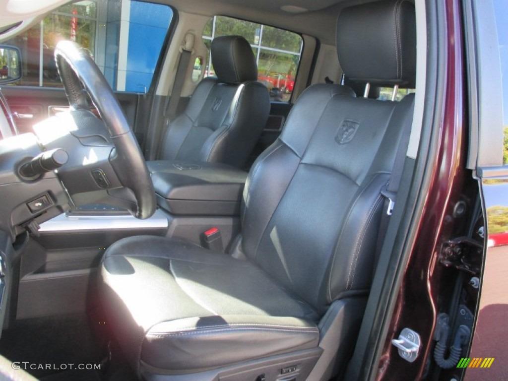 2012 Ram 1500 Laramie Crew Cab 4x4 - Deep Molten Red Pearl / Dark Slate Gray photo #24