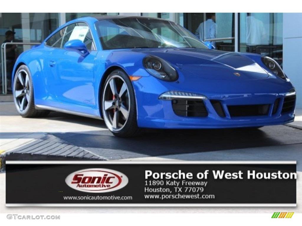 2016 911 GTS Club Coupe - Club Blau, Blue Paint to Sample / GTS Black/Carmine Red photo #1