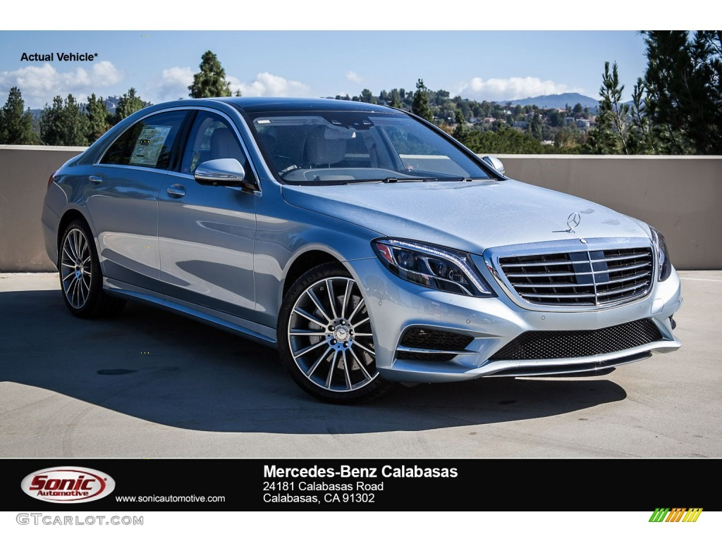 2015 diamond silver metallic mercedes benz s 550 sedan for Mercedes benz paint colors