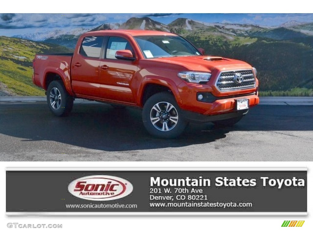 2016 inferno orange toyota tacoma trd sport double cab 4x4 107761615 photo 11. Black Bedroom Furniture Sets. Home Design Ideas