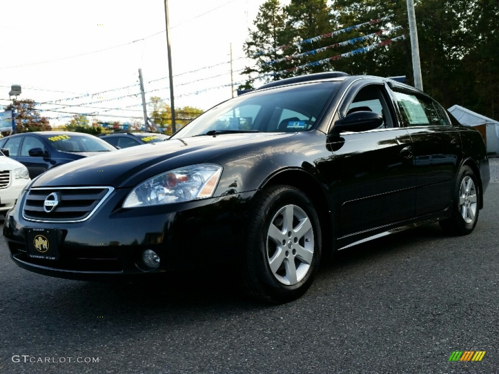 2003 super black nissan altima 2 5 sl 107762085 car color galleries. Black Bedroom Furniture Sets. Home Design Ideas