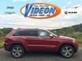 Deep Cherry Red Crystal Pearl 2015 Jeep Grand Cherokee Limited 4x4