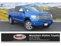 2016 Blazing Blue Pearl Toyota Tundra Platinum CrewMax 4x4  photo #1