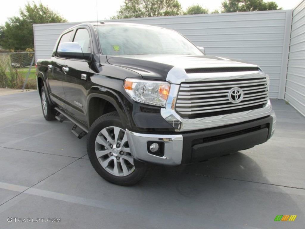 Midnight Black Metallic 2016 Toyota Tundra Limited CrewMax 4x4 Exterior Photo #107813303