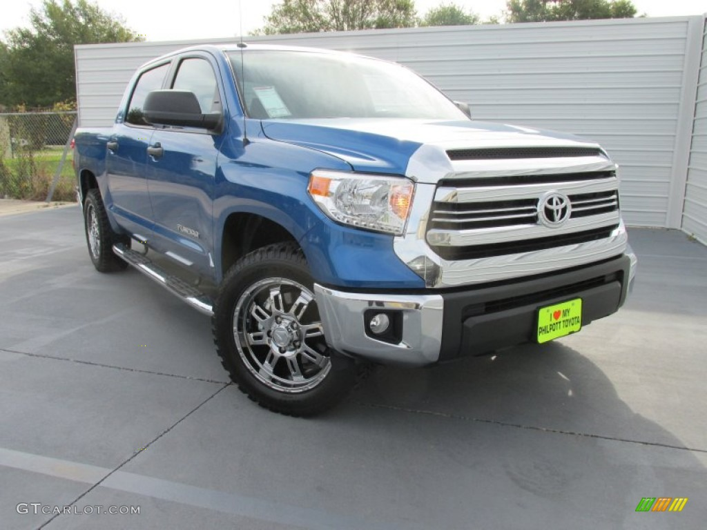 2016 Tundra TSS Double Cab - Blazing Blue Pearl / Graphite photo #1