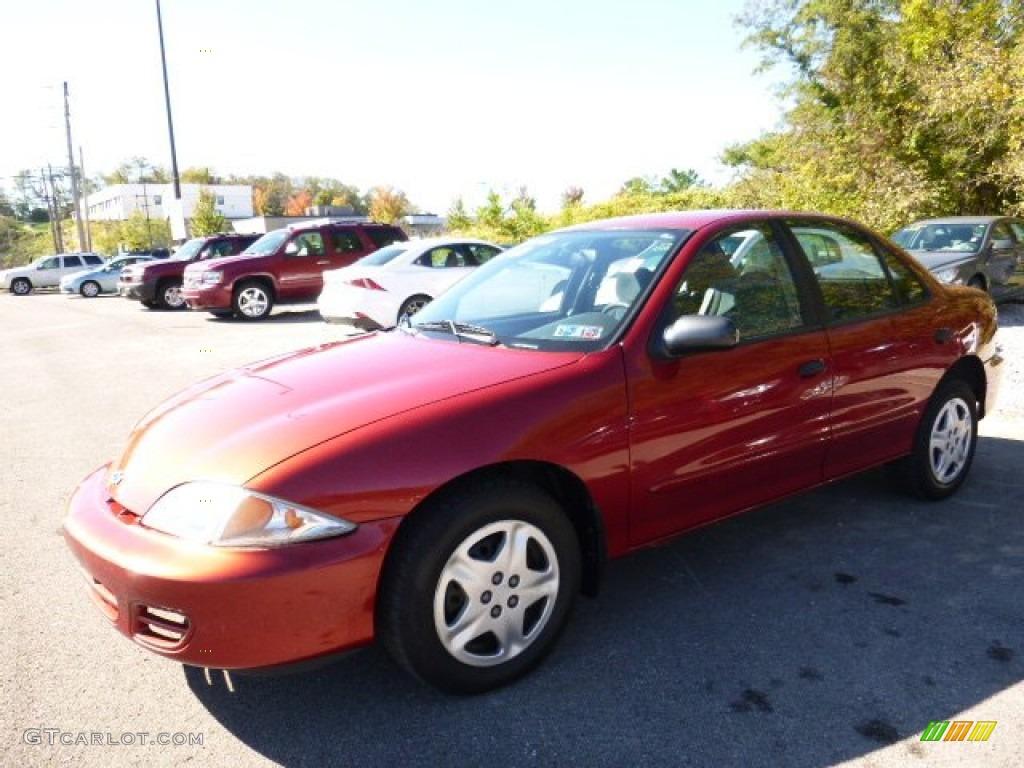 2001 Cavalier LS Sedan - Cayenne Red Metallic / Medium Gray photo #1