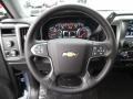 Jet Black 2016 Chevrolet Silverado 1500 LT Double Cab 4x4 Steering Wheel