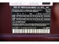 2008 GL 450 4Matic Barolo Red Metallic Color Code 544