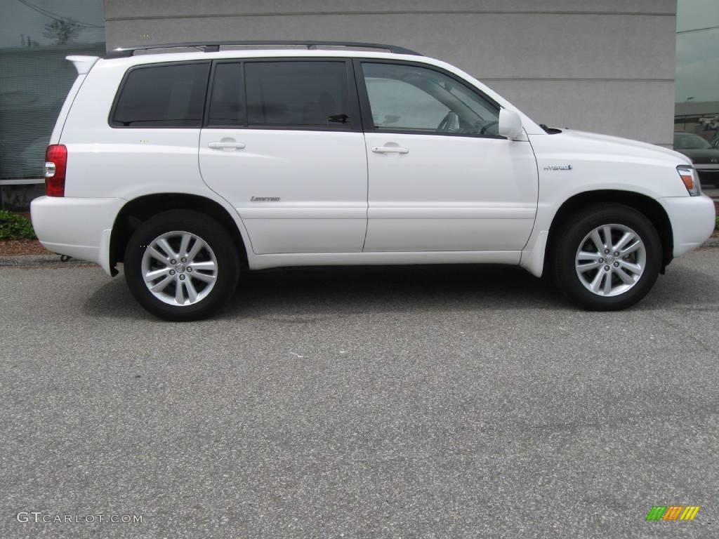 2006 Highlander Hybrid Limited 4wd Super White Ivory Beige Photo 2