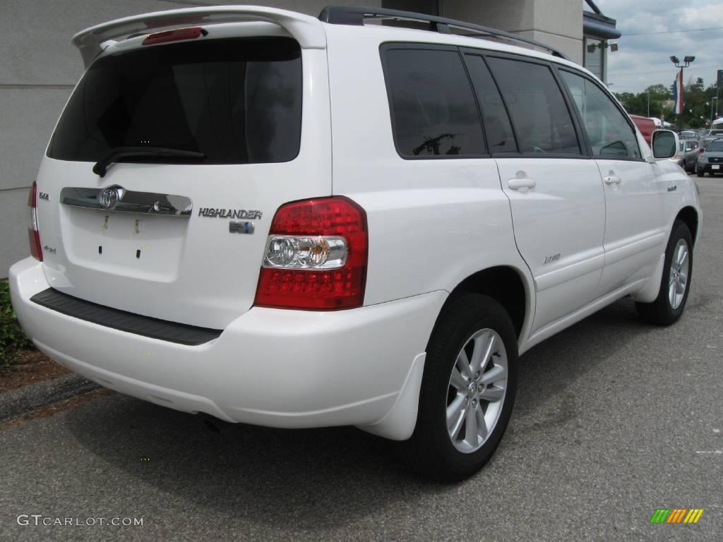 2006 Highlander Hybrid Limited 4wd Super White Ivory Beige Photo 3