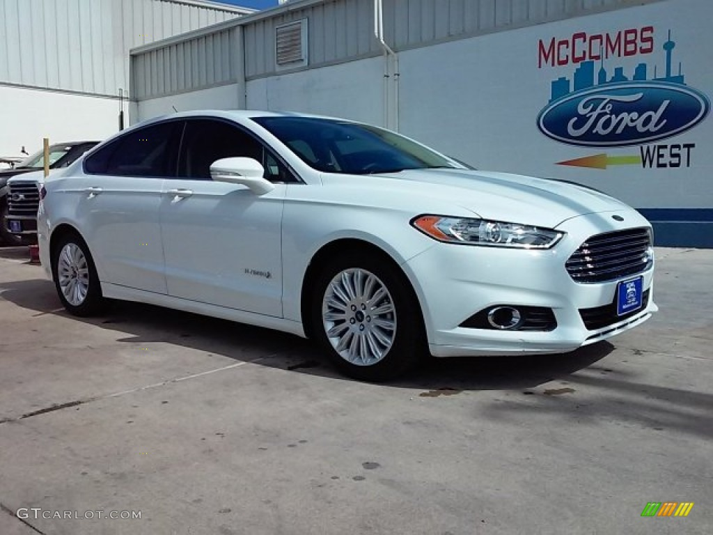 2015 oxford white ford fusion hybrid se 107920377 car color galleries. Black Bedroom Furniture Sets. Home Design Ideas