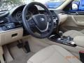 2015 BMW X3 Sand Beige Interior Prime Interior Photo