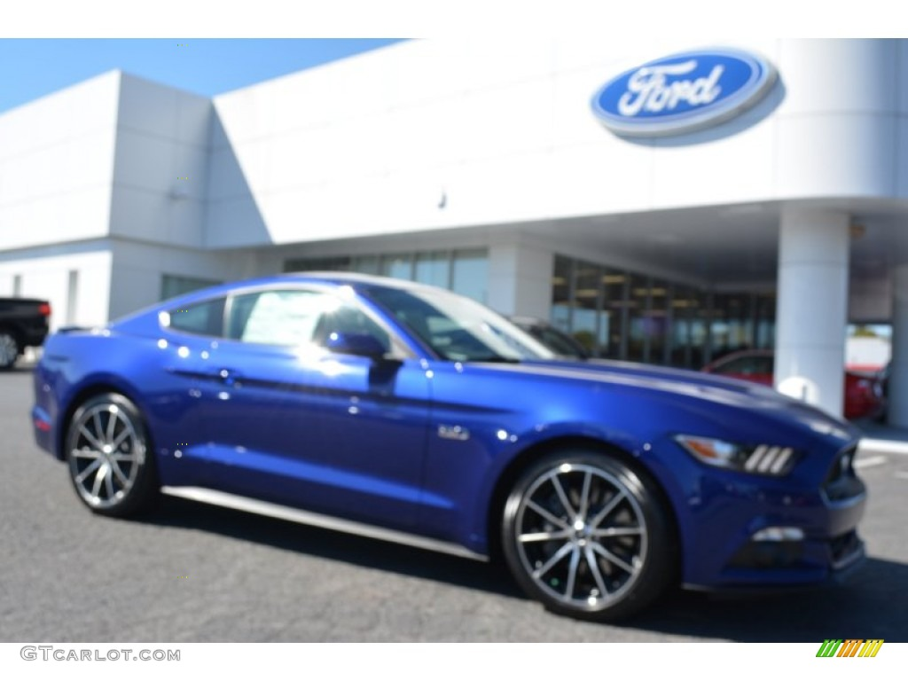 2016 Mustang Gt Coupe Deep Impact Blue Metallic Ebony Photo 1