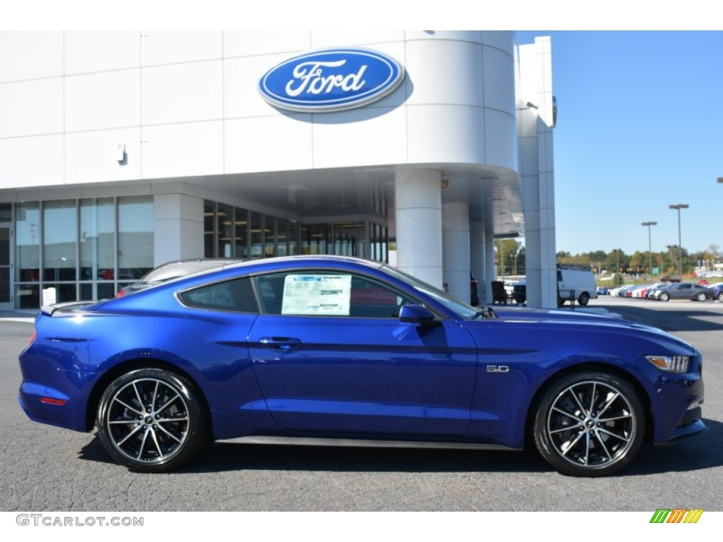 2016 Mustang Gt Coupe Deep Impact Blue Metallic Ebony Photo 2