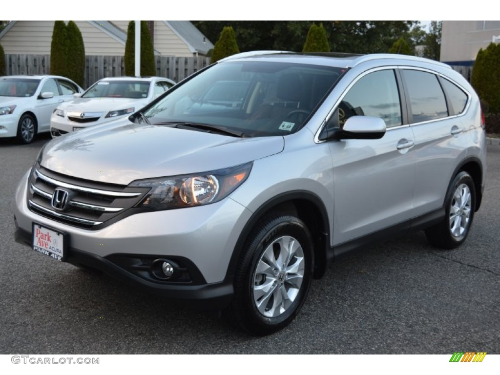 2014 CR-V EX-L AWD - Alabaster Silver Metallic / Black photo #7