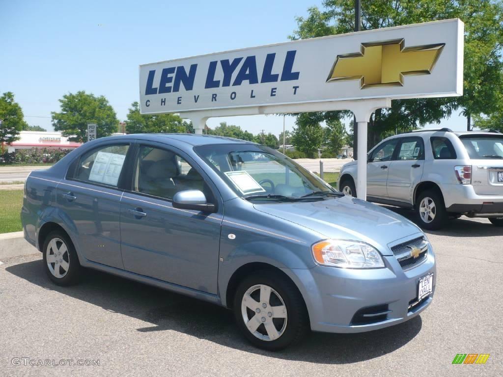 Icelandic Blue Metallic Chevrolet Aveo. Chevrolet Aveo LS Sedan