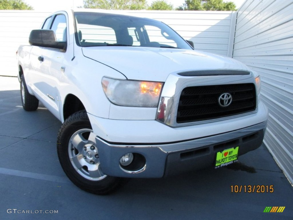 2009 Tundra SR5 Double Cab - Super White / Graphite Gray photo #1