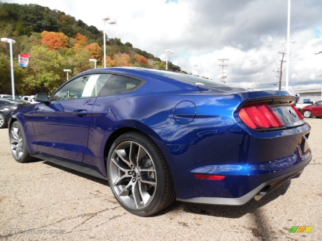 deep impact blue metallic 2016 ford mustang ecoboost premium coupe exterior photo 107967881. Black Bedroom Furniture Sets. Home Design Ideas
