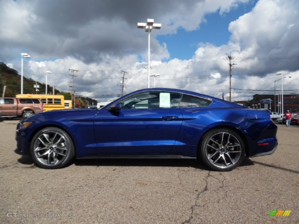 deep impact blue metallic 2016 ford mustang ecoboost premium coupe exterior photo 107967902. Black Bedroom Furniture Sets. Home Design Ideas