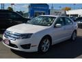 2012 White Platinum Tri-Coat Ford Fusion SE #107951560