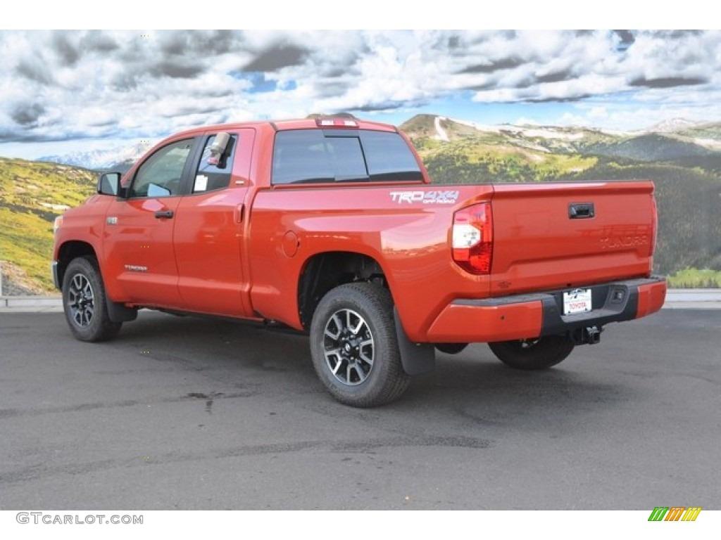 2016 Inferno Orange Toyota Tundra Sr5 Double Cab 4x4 107951156 Photo 3