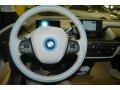 2015 BMW i3 Mega Carum Spice Grey Sensatec & Carum Spice Grey Cloth Interior Steering Wheel Photo