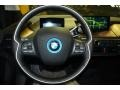 2015 BMW i3 Tera Dalbergia Brown Full Natural Leather Interior Steering Wheel Photo