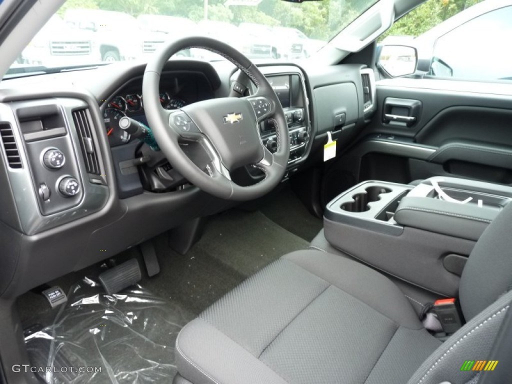 Jet Black Interior 2016 Chevrolet Silverado 1500 LT Double Cab 4x4 Photo #108004013
