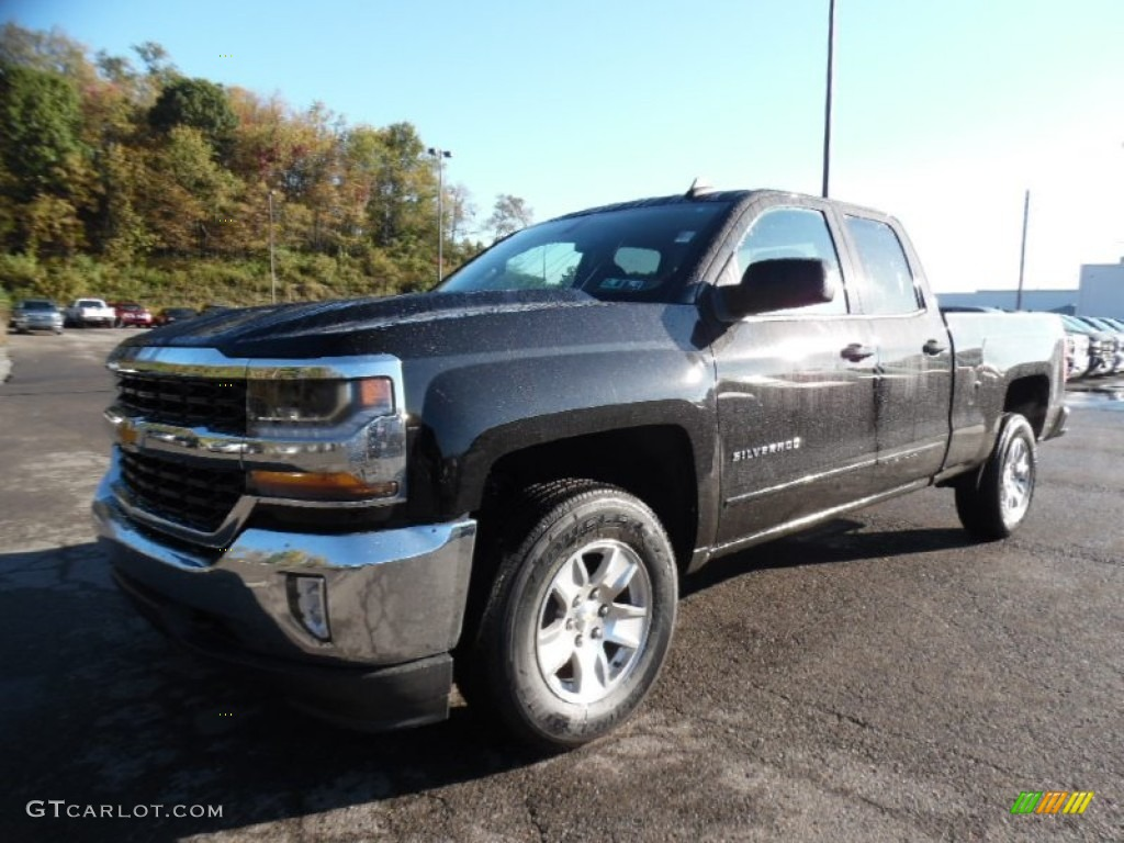 2016 black chevrolet silverado 1500 lt double cab 4x4. Black Bedroom Furniture Sets. Home Design Ideas
