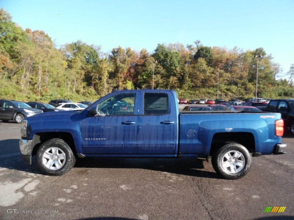 Deep Ocean Blue Metallic 2016 Chevrolet Silverado 1500 LT Double Cab 4x4 Exterior Photo #108036398