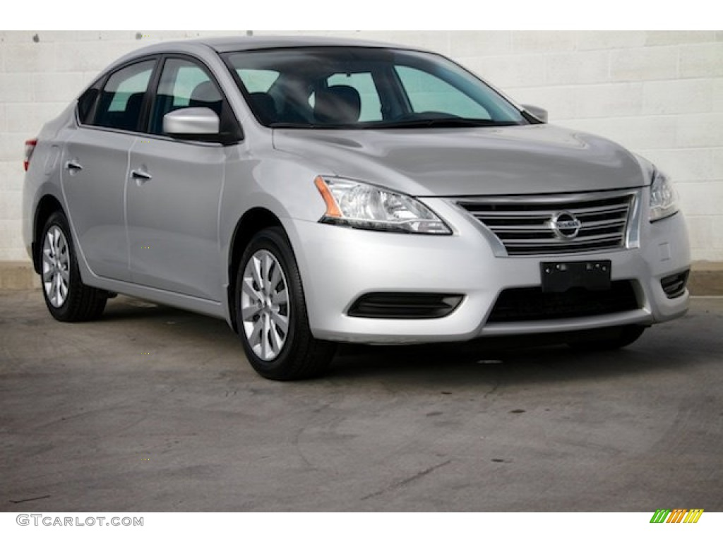 2014 brilliant silver nissan sentra sv 107951801 car color galleries. Black Bedroom Furniture Sets. Home Design Ideas