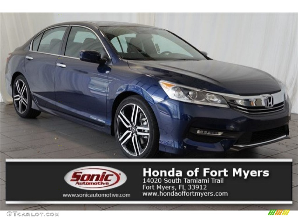 2016 obsidian blue pearl honda accord sport sedan 107951247 car color galleries. Black Bedroom Furniture Sets. Home Design Ideas