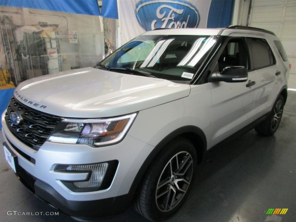 2016 Explorer Sport 4WD - Ingot Silver Metallic / Ebony Black photo #3