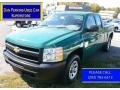 2011 Steel Green Metallic Chevrolet Silverado 1500 Extended Cab 4x4 #108047653