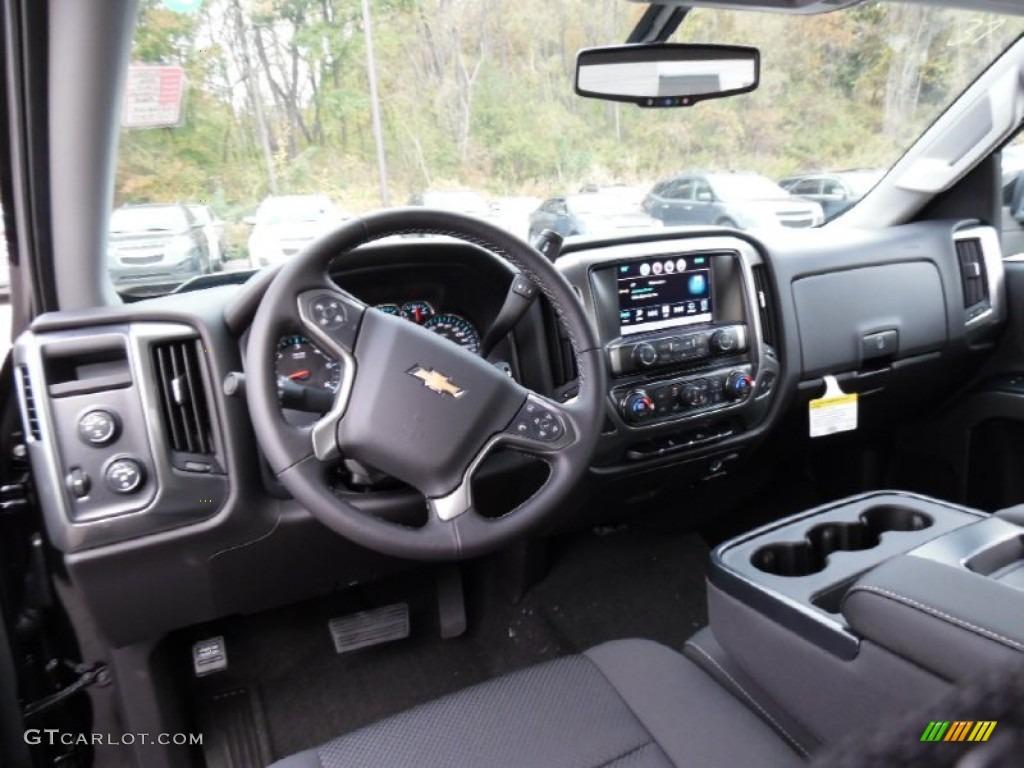 Jet Black Interior 2016 Chevrolet Silverado 1500 LT Double Cab 4x4 Photo #108060659