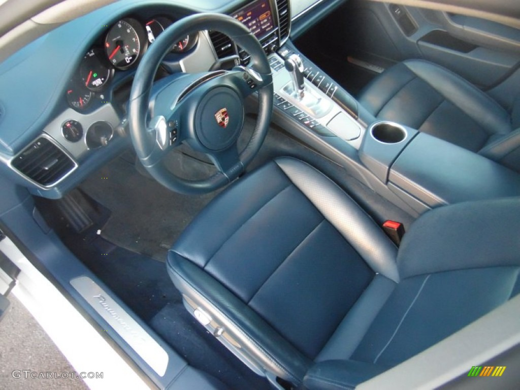 Yachting Blue Interior 2012 Porsche Panamera 4S Photo