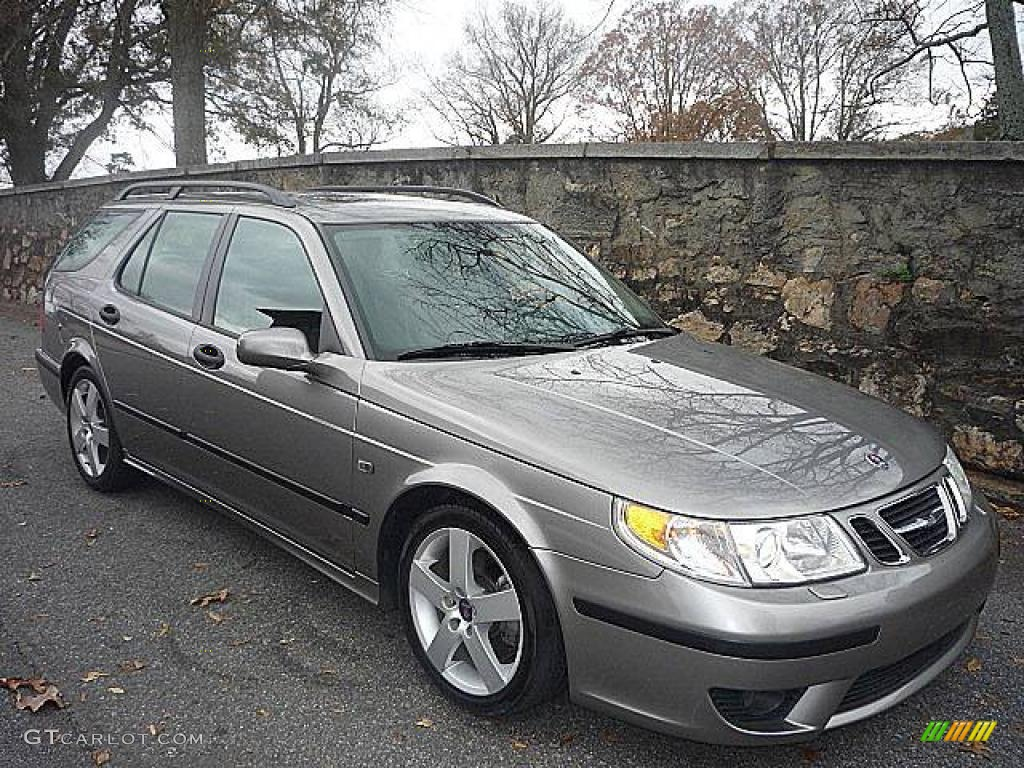 2005 steel gray metallic saab 9 5 aero sport wagon. Black Bedroom Furniture Sets. Home Design Ideas