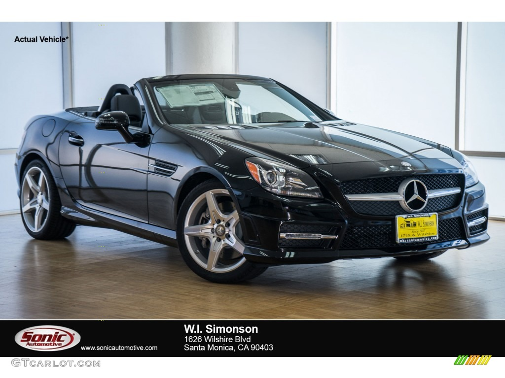 2016 SLK 300 Roadster - Black / Black photo #1