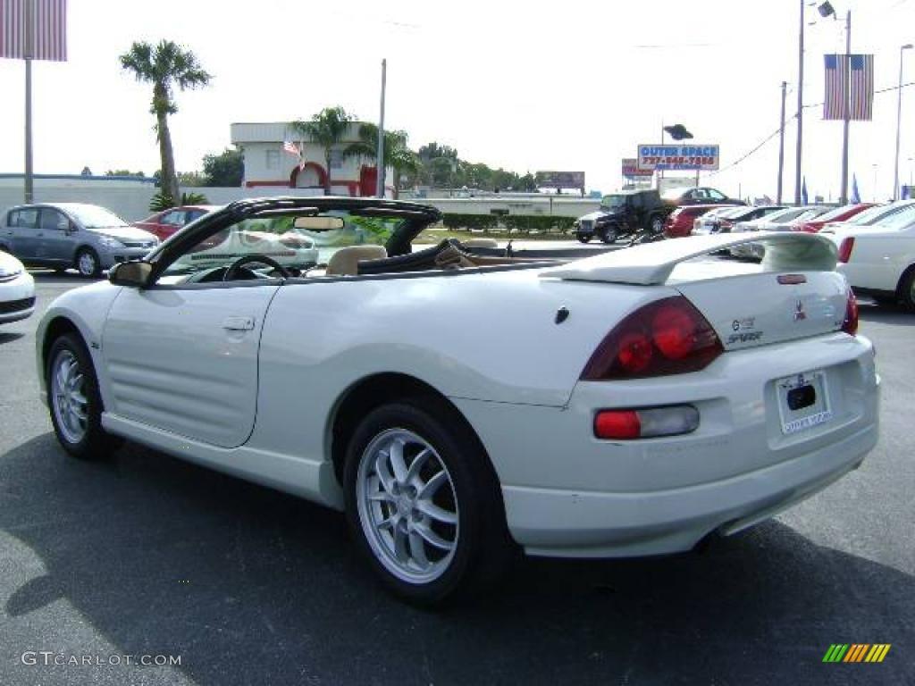 2001 dover white pearl mitsubishi eclipse spyder gt 1074750 photo 5 car color. Black Bedroom Furniture Sets. Home Design Ideas