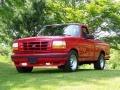 Red 1993 Ford F150 SVT Lightning