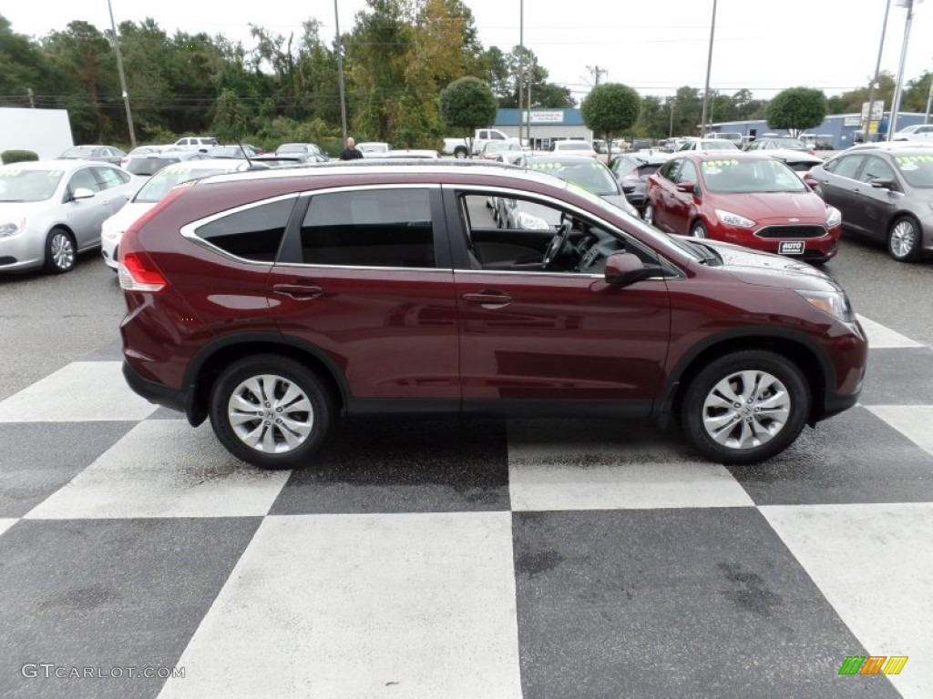 2013 CR-V EX-L - Basque Red Pearl II / Gray photo #3