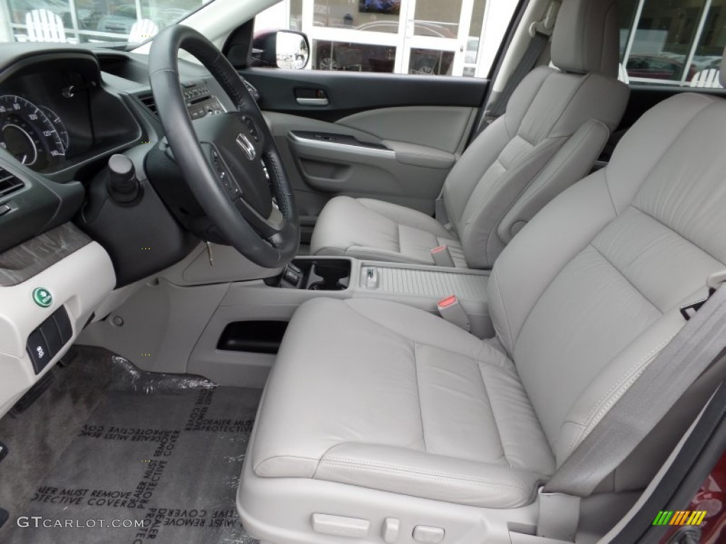 2013 CR-V EX-L - Basque Red Pearl II / Gray photo #10